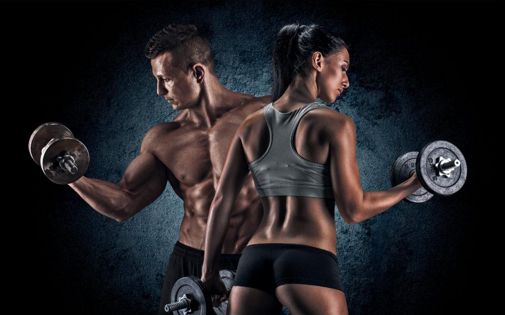 Мужчина и женщина мышечная масса